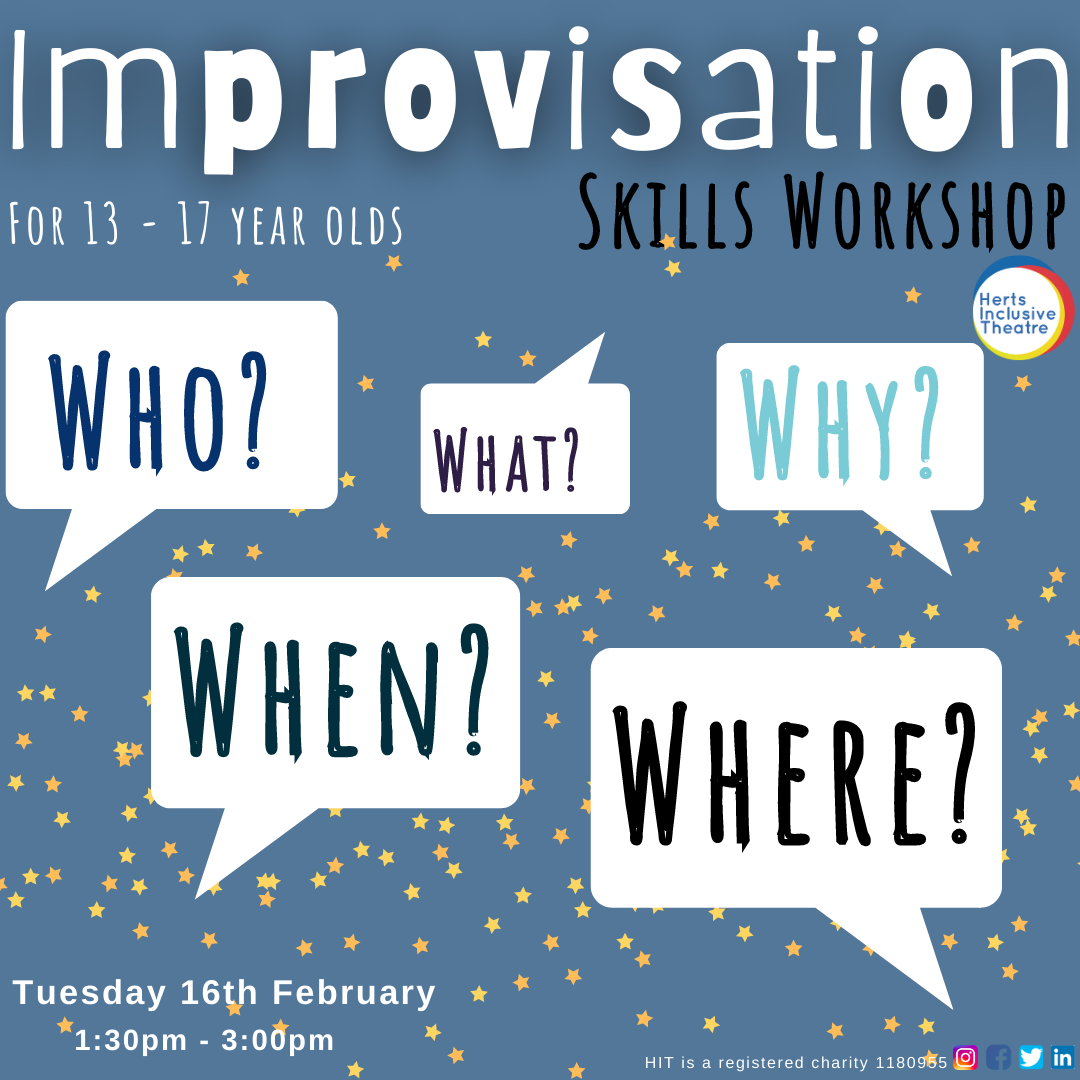 Join us for a great afternoon playing Improvisation games, develop your improvisation technique and have fun!
